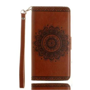 CREYV2S GBSELL Retro Pattern Leather Flip Wallet Phone Case Cover for iPhone 7 Plus