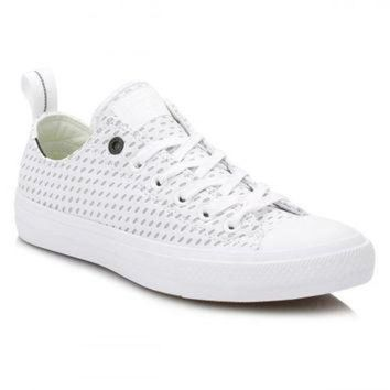 DCKL9 Converse All Star Chuck Taylor II Mens White/Ash Grey Shield Trainers