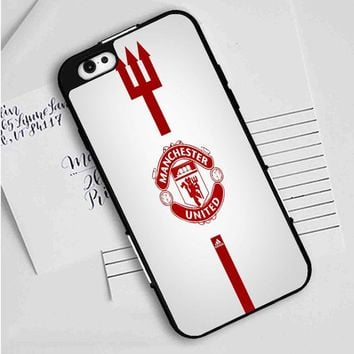 Manchester United White iPhone Case