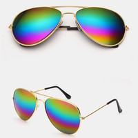Rainbow Aviator Sunglasses + Gift Box