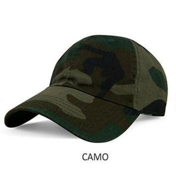 New Plain Solid Washed Cotton Polo Style Baseball Ball Cap Caps Hat Hats Camo