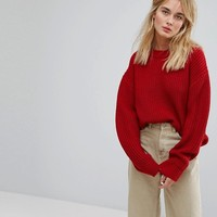 Weekday Huge Knit Sweater at asos.com