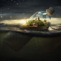 """Drifting Away"" - Art Print by Erik Johansson"