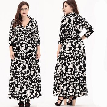 plus size Dress Women clothing Long Sleeve Long Dress Muslim Kaftan Caftan Casual Abaya Wrap Bohemian DRESS casual party 0086