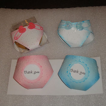 Baby Shower Diaper Favour, Baptism Favor, Cookie Pocket Cover, Candy Cover, Baby Favor