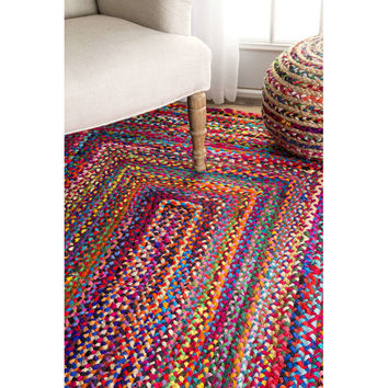 Bungalow Rose Khan Hand-Braided Area Rug & Reviews | Wayfair