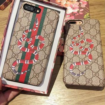 Gotopfashion GUCCI Fashion Snake Stripe iPhone Phone Cover Case For iphone 6 6s 6plus 6s-plus 7 7plus