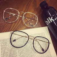 Metal Rack Vintage Unisex Stylish Glasses [11405236495]