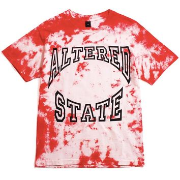 Altered State T-Shirt Red Tie-Dye