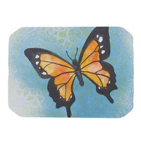 "Padgett Mason ""Summer Flutter"" Blue Orange Place Mat"