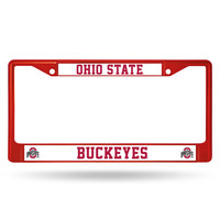 Ohio State Buckeyes Metal License Plate Frame - Red