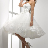New White/ivory Lace Wedding Dress Bride Evening Formal Dresses custom All Size+