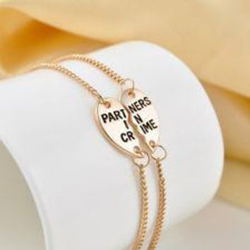 Partners in Crime  Gold 2pc Bracelet Set