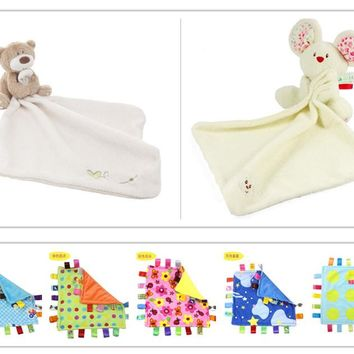 Cute Bear Baby Blanket 35*30cm Soft Coral Fleece Baby Toys Learning & Education Baby Care Products High Quality YYT087-YYT088