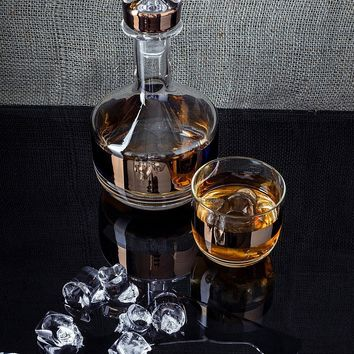 Gold Tank Whiskey Decanter by Tom Dixon