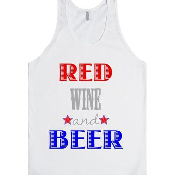 Red Wine & Beer Fourth Of July Shirt