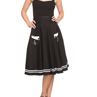 Hell Bunny Black Anchor Swing Skirt | Hot Topic