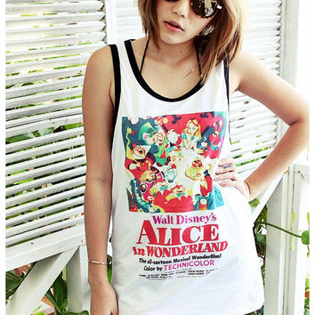 Alice in Wonderland 1951 Tank Top Unisex Men Women Size S, M, L