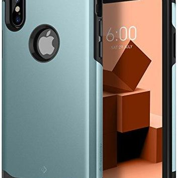 iPhone X Case, Caseology [Legion Series] Slim Heavy Duty Protection Dual Layer Armor for Apple iPhone X (2017) - Aqua Green