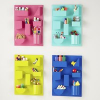 The Land of Nod: Kids Storage: Colorful Iron Wall Organizers in Shelf & Wall Storage