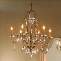 Deco Crystal Swag Mini Chandelier - 6 Lt - Shades of Light