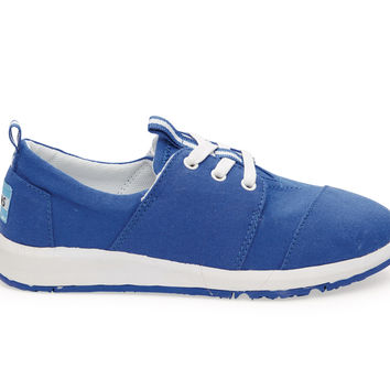 TOMS Blue Canvas Youth Del Rey Sneakers Blue