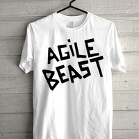 agile beast Screen print Funny shirt for t shirt mens and t shirt girl size s, m, l, xl, xxl