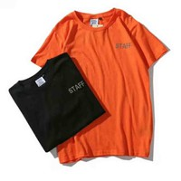 Vetements reflective New style short sleeve blouse top two color