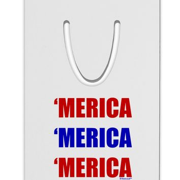 Merica Merica Merica - Red and Blue Aluminum Paper Clip Bookmark