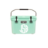 Yeti Cooler Decal - Vinyl Decal - Cooler Decal - Monogram - Monogrammed - Many Colors & Sizes!