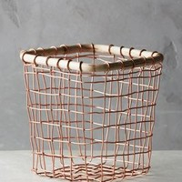 Brushed Wire Fruit Bowl by Anthropologie in Copper Size: