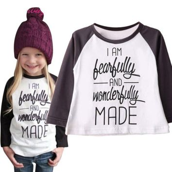 I Am Fearfully And Wonderfully Made - Baby Children Kid Girl T-Shirt