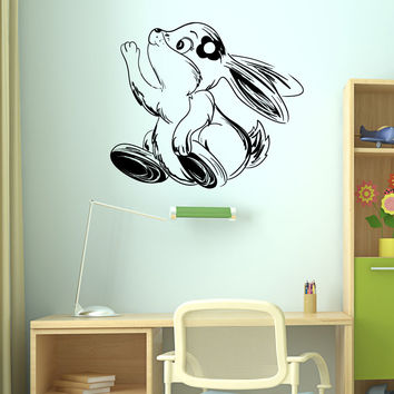 Vinyl Wall Decal Sticker Happy Girl Bunny #1358