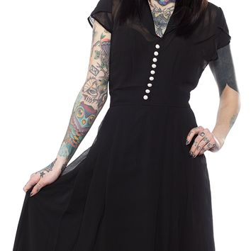 HELL BUNNY PAIGE DRESS BLACK