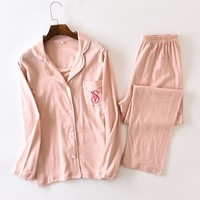 Victoria's secret Fashion Women homewear pajamas long sleeve two piece suit One-nice™