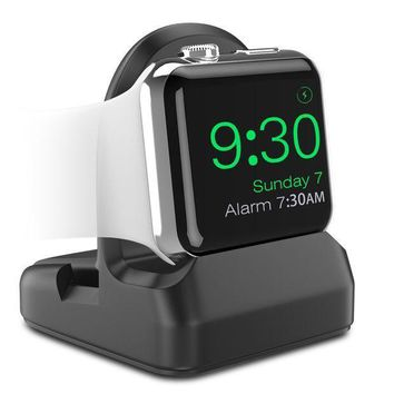 Moko Apple Watch Stand Tpu Charging Station Dock Compatible With Nightstand Mode Fit Apple Watch Series 3 2017 / Series 2 2016 [38mm & 42mm] Black