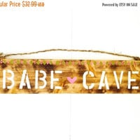 THANK YOU SALE Babe Cave Sign / Sea Gypsy California
