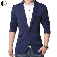 New Spring Fashion Brand Blazer Men High Quality Single Breaster Casual Suit Jacket Men Slim Fit Suits Plus Size MB047