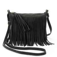 Mudd Fringed Mini Crossbody Bag