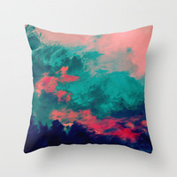 Painted Clouds IV Throw Pillow by Caleb Troy | Society6