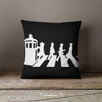 Doctor Who Funny Abbey Road Pillow Case, Cushion Case