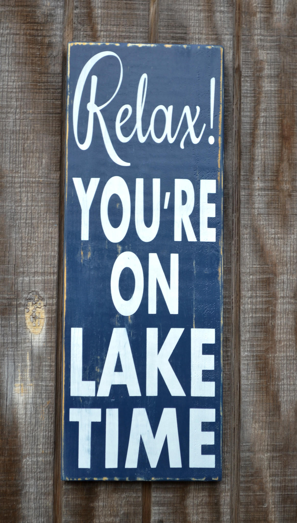 Lake House Sign Decor Rustic Lake Home from soflco.com | Beach