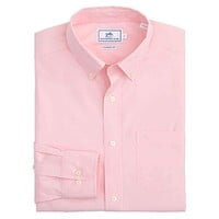 Sullivan's Solid Sport Shirt in Pink by Southern Tide