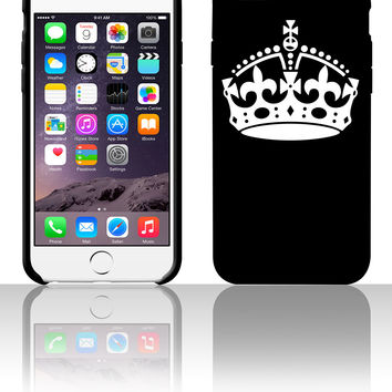 Keep Calm and Carry On Crown 5 5s 6 6plus phone cases