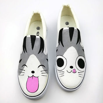 2017 Spring Summer Hot Sale Platform Shoes Women Hand-Painted Canvas Shoes Female Foot Wrapping Dawdler Bear Casual Board Shoes