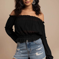 See You Soon Off Shoulder Blouse