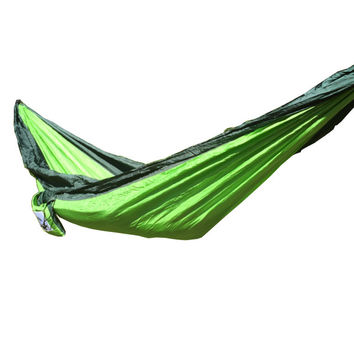 Light Green/ Dark Green Single Person Hammock