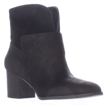 Nine West Dale Pull On Ankle Boots, Black/Black, 7.5 US