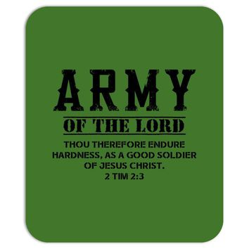 Army Of The Lord Christian T Shirts Bible Verse Mousepad
