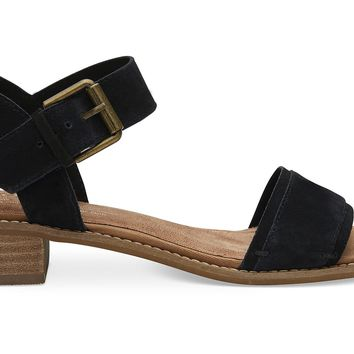 BLACK SUEDE WOMEN'S CAMILIA SANDALS